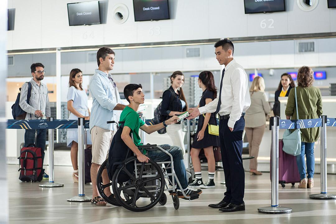 passageiros com mobilidade reduzida