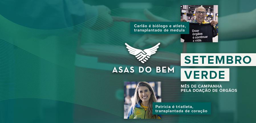 Personagens do vídeo da campanha Asas do Bem, sobre doação de órgãos